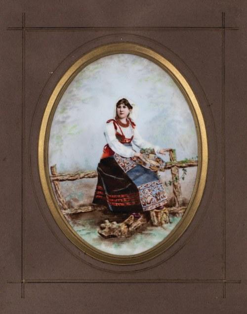 KOBIETA Z TAMBURYNEM, XIX/XX w.