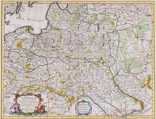 MAPA POLSKI, Guillaume de Lisle, Paryż, 1702