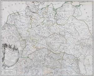 MAPA STAROŻYTNA GERMANIA, Robert de Vaugondy, Paryż, 1756