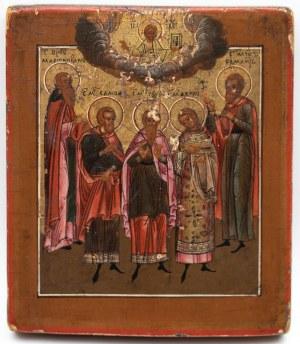 IKONA, SOBÓR ŚWIĘTYCH, Rosja, poł. XIX w.