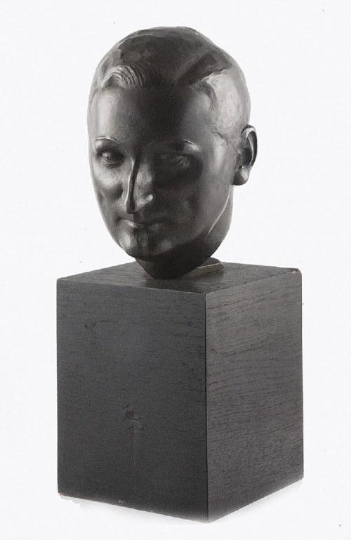 Rzeźbiarz nierozpoznany, polski, XX w., Głowa męska - Portret Tadeusza Gronowskiego