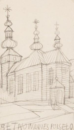 Nikifor KRYNICKI (1895-1968), Kościół, ok. 1966