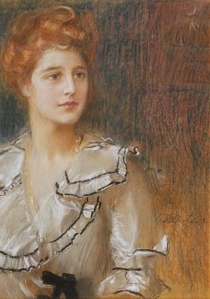 Teodor AXENTOWICZ (1859-1938), Portret młodej kobiety