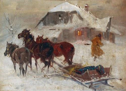 Franciszek ZYGMUNTOWICZ (1875-1947), Pod chatą, ok. 1920