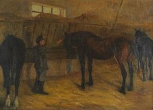 Marceli Nałęcz DOBROWOLSKI (1876-1959), W stajni, 1906