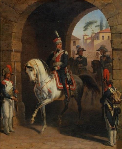 January SUCHODOLSKI (Grodno 1797 - Boimie k. Siedlec 1875), Wjazd gen. Henryka Dąbrowskiego na czele legionów do Rzymu, 1866