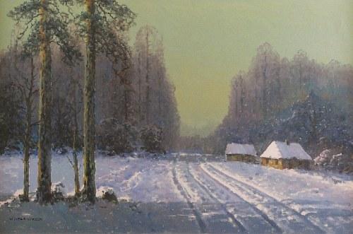 Wiktor KORECKI (1890-1980), Pejzaż zimowy, ok. 1970