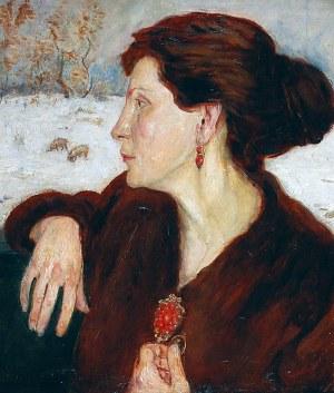 Wlastimil HOFMAN (1881-1970), Portret kobiety - Ada Hammerova, 1918