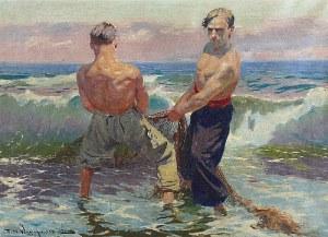 Feliks Michał WYGRZYWALSKI (1875-1944), Rybacy ciągnący sieci