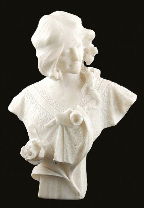 CAMPOLINI (?), Popiersie kobiety z kwiatem