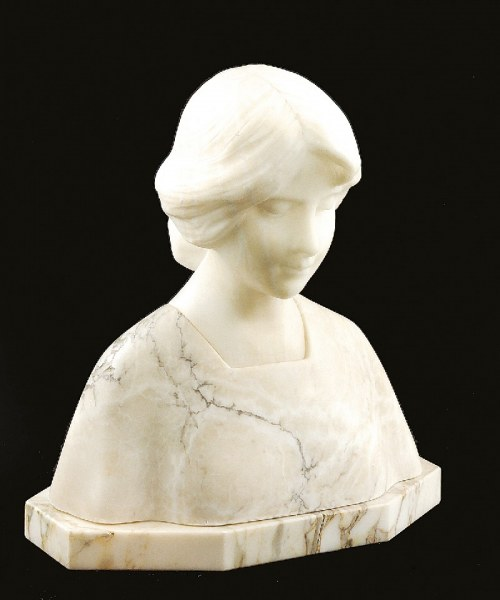 Richard AURILI (1834-1914), Popiersie kobiety uczesanej w kok