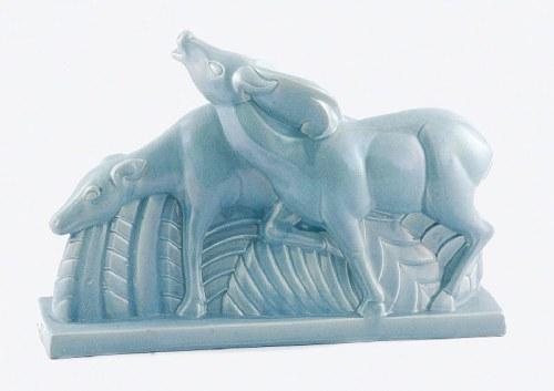 Charles LEMANCEAU (1905-1980) - model z 1925 r., Gazele (jeleń i łania)