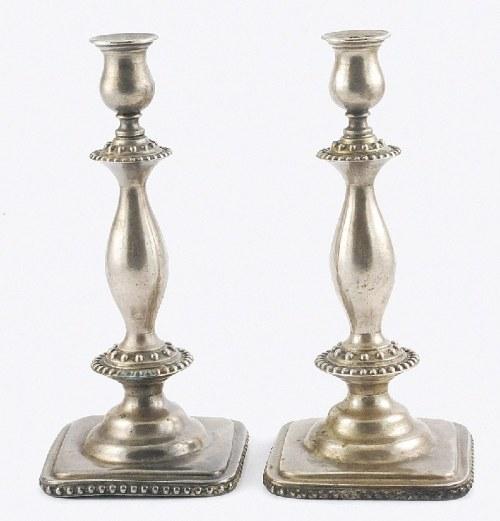 Fabryka Wyrobów Srebrnych i Platerowanych J. Fraget (firma czynna 1824-1944), Para lichtarzy