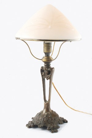 Lampa elektryczna, gabinetowa, secesyjna