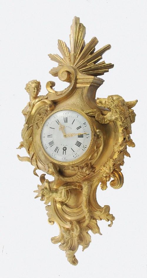 Pierre II GILLE v. GILLE L'AINÉ (1723-1784), Zegar ścienny typu cartel, o tematyce myśliwskiej
