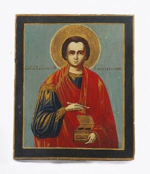 Ikona - Św. Pantelejmon - patron lekarzy i aptekarzy