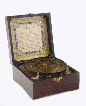 SYMPHONION FABRIK LOCHMANNSCHER MUSIKWERKE AG (czynna od 1898), Pozytywka - polifon talerzowy + 1 płyta