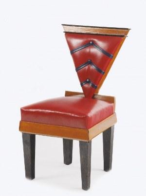Wacław WALLIS, realizacja: Pracownia Mebli Artystycznych Bober i Syn, Krzesło kubistyczne