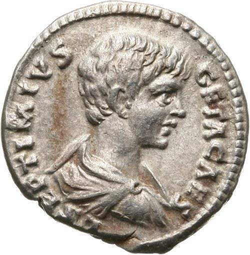 Geta 209-212 - jako cezar 198-209, denar 198-209, Laodicea
