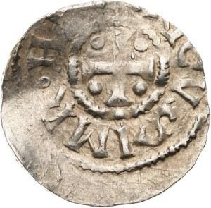 Niemcy, Kolonia, arcybiskupstwo, cesarz Henryk II 1002-1024, denar 1002-1024