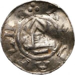 Niemcy, Saksonia - Otto III 983-1002, denar typu OAP 983-1002