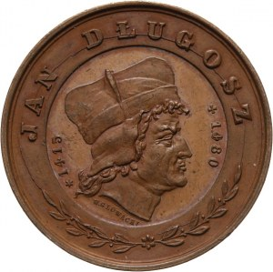 Jan Długosz, medal autorstwa W. Głowackiego wybity w 1880 r z okazji 400-lecia śmierci historyka w Krakowie