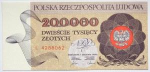 PRL, 200000 złotych 1989 r., seria L42288062
