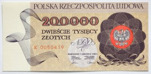 PRL, 200000 złotych 1989 r., seria K0050419