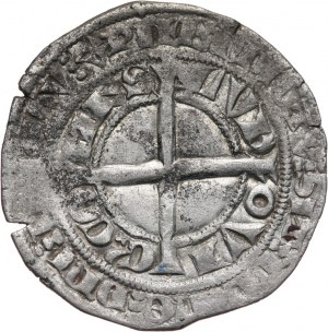 Niderlandy, Flandria-Ludwik II van Male 1346-1384, grosz bez daty ( ok. 1340-1343 )