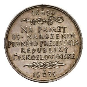 Czechy, medal z okazji 85 urodzin Tomasza Garrique Masaryk'a 1935
