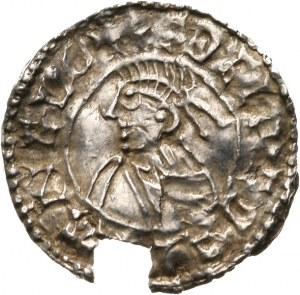 Anglia, Aethelred II 978-1016, denar typu small cross, 1009-1017