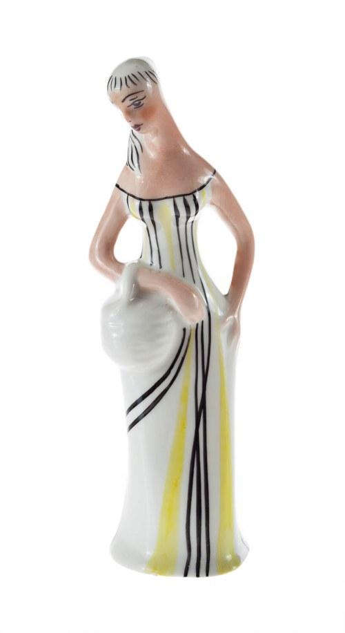 Figurka Panna z koszykiem (Grzybiarka)