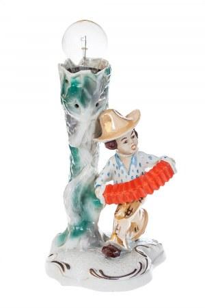 Podstawa do lampy z dekoracja figuralną