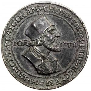Niemcy, Medal 1532/33 Jan Hus - XIX-wieczna kopia kolekcjonerska
