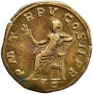 Roman Empire, Goridan III, Sestertius Apollo