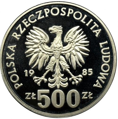 PRL, PRÓBA nikiel 500 złotych 1985 Przemysław II