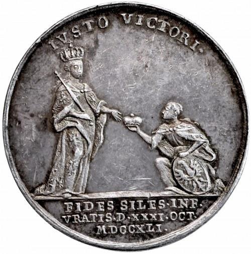 Śląsk, Fryderyk II, medal Wrocław 1741