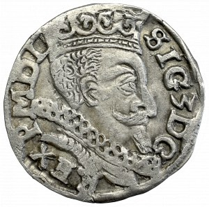 Zygmunt III Waza, Trojak 1597 Lublin - monogram Reysnera bez tarczy