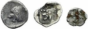 Grecja Antyczna, zestaw 3 sztuki Obole Myzja - Kyzikos