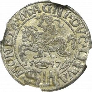 Zygmunt II August, Grosz 1547, Wilno - NGC MS61