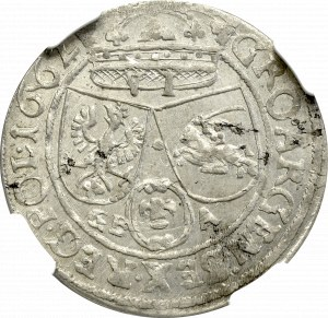Jan II Kazimierz, Szóstak 1662, Lwów - NGC MS62