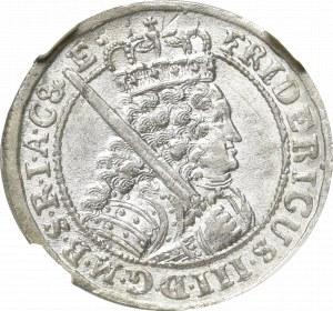 Prusy, Fryderyk III , ort 1698 SD, Królewiec - NGC MS65