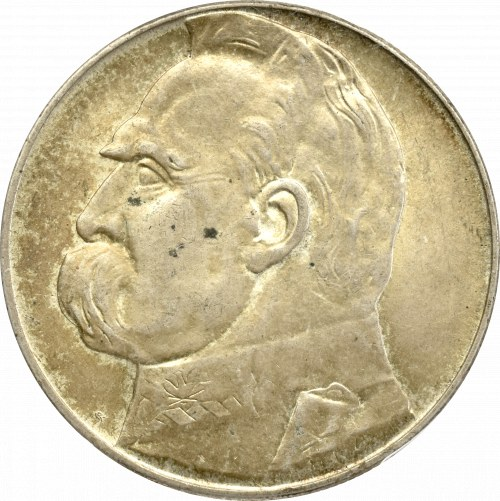 II Rzeczpospolita, 10 złotych 1939, Piłsudski - PCGS MS63