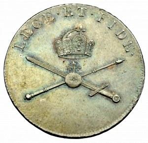 Austria, Franciszek II, żeton koronacyjny 1792