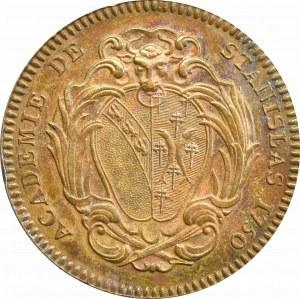 Polska, medal Akademii Stanisławowskiej powołanej w 1750, brąz