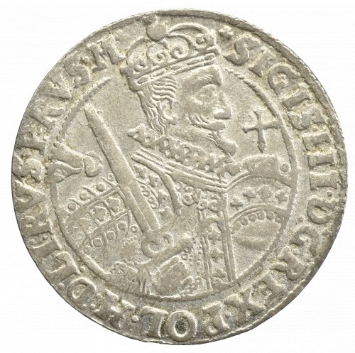 Zygmunt III Waza, Ort 1622, Bydgoszcz - PRVS M - BRAK DŁONI TRZYMAJĄCEJ JABŁKO