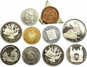 Zestaw 10 monet i medali (w tym srebrne)