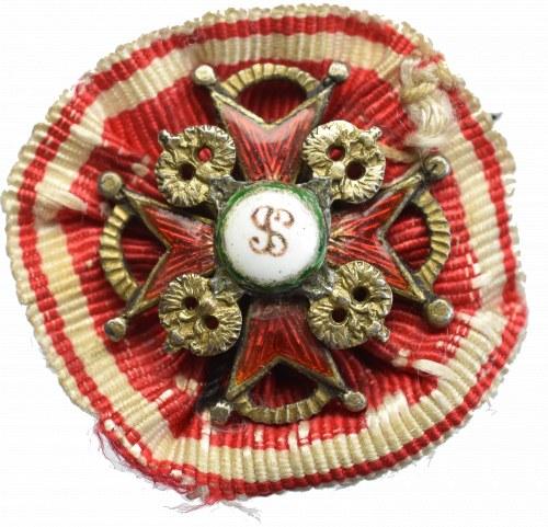 Rosja, Order św. Stanisława - miniatura srebro