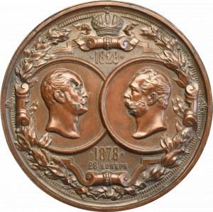 Rosja, Alekander II, medal 1878 50-lecie Intytutu Technologii