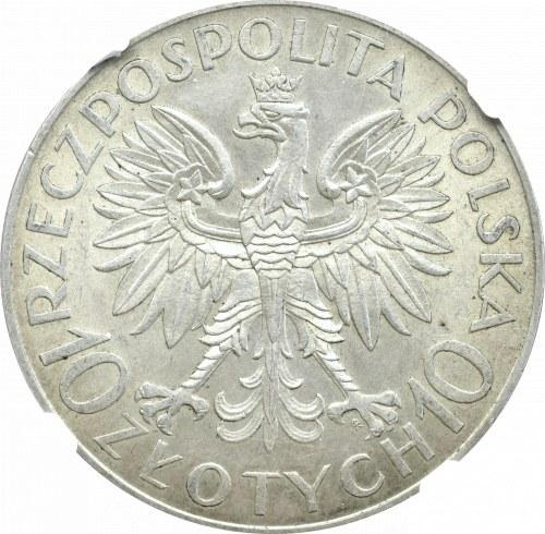 II Rzeczpospolita, 10 złotych 1933, Traugutt, NGC MS62